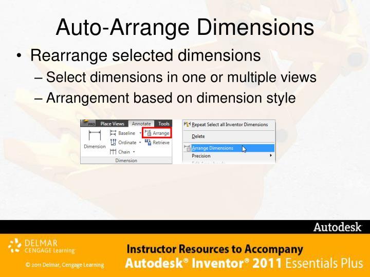 Auto-Arrange Dimensions