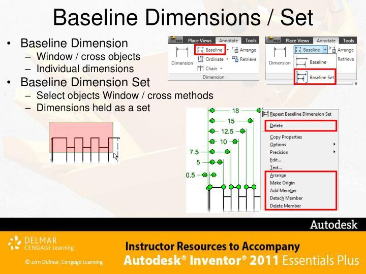 Baseline Dimensions / Set