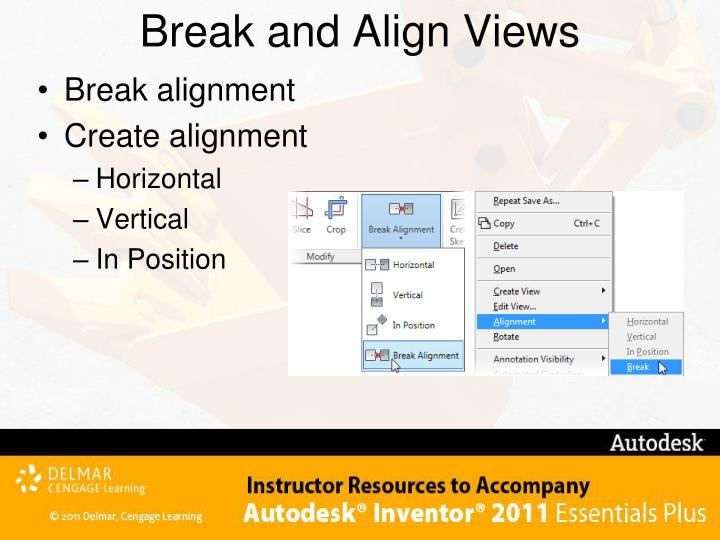 Break and Align Views