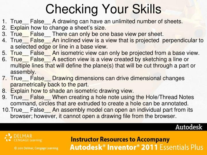 Checking Your Skills