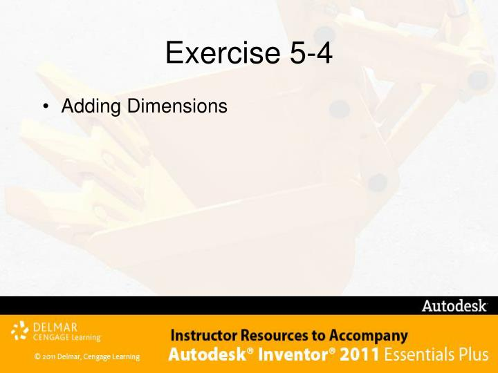 Exercise 5-4