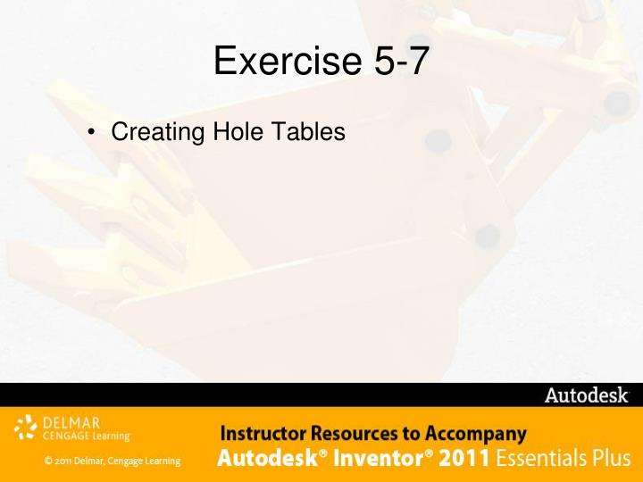 Exercise 5-7