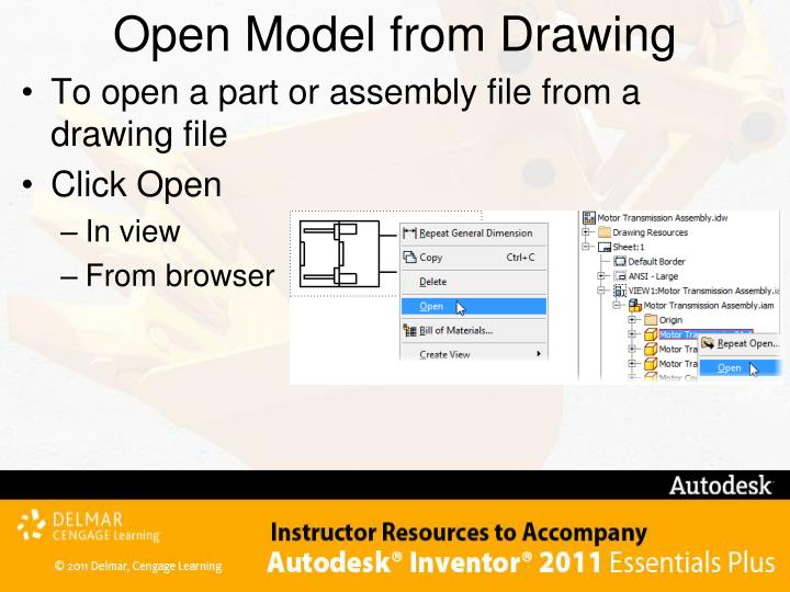 Open Model from Drawing