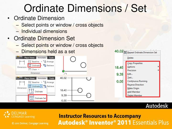 Ordinate Dimensions / Set
