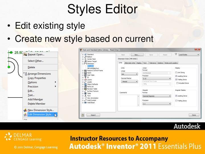 Styles Editor