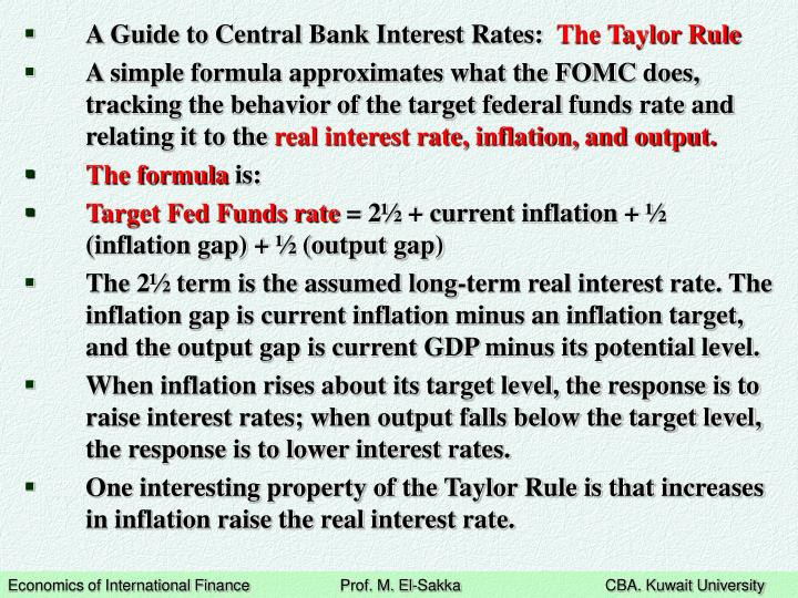 A Guide to Central Bank Interest Rates: