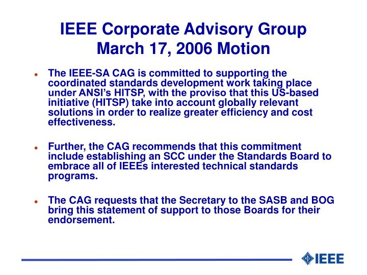 IEEE Corporate Advisory Group