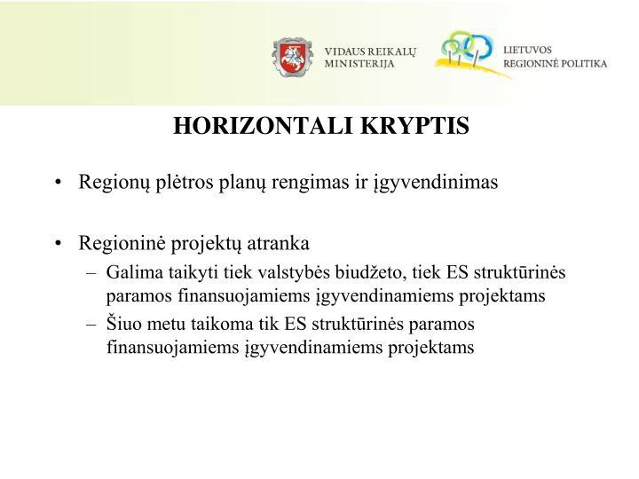 HORIZONTALI KRYPTIS