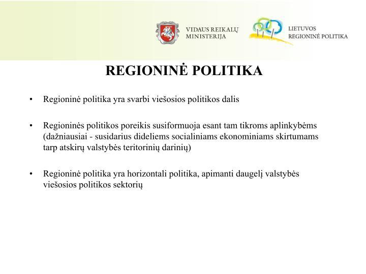 REGIONINĖ POLITIKA