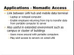 applications nomadic access