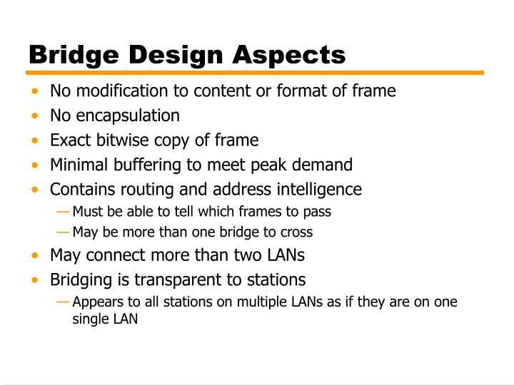 Bridge Design Aspects