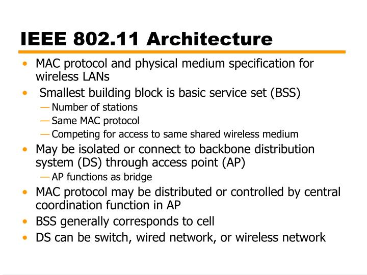IEEE 802.11 Architecture