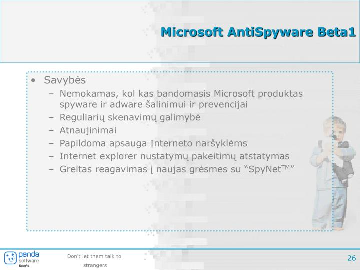 Microsoft AntiSpyware Beta