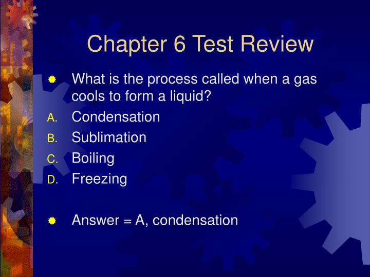 Chapter 6 Test Review