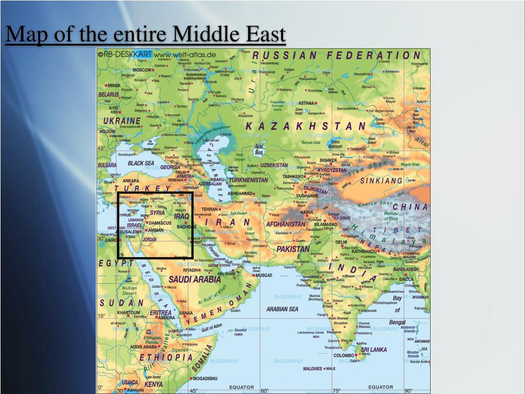 Map of the entire Middle East