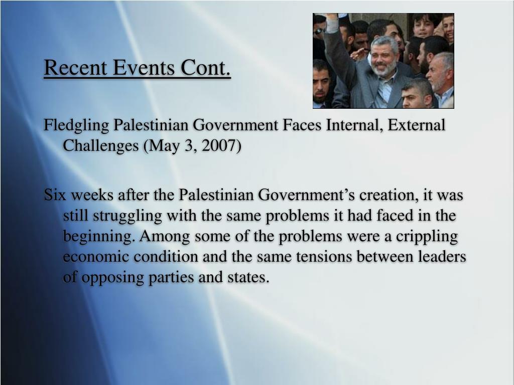 Recent Events Cont.