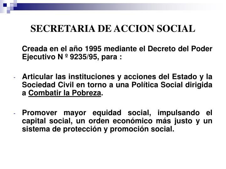 SECRETARIA DE ACCION SOCIAL