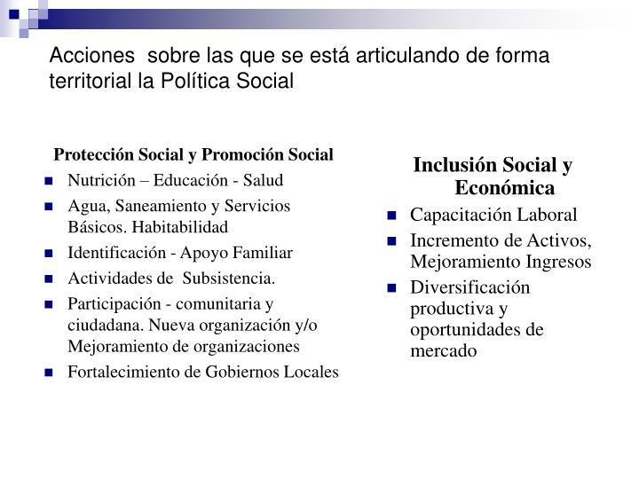 Protección Social y Promoción Social