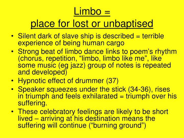 Limbo place for lost or unbaptised