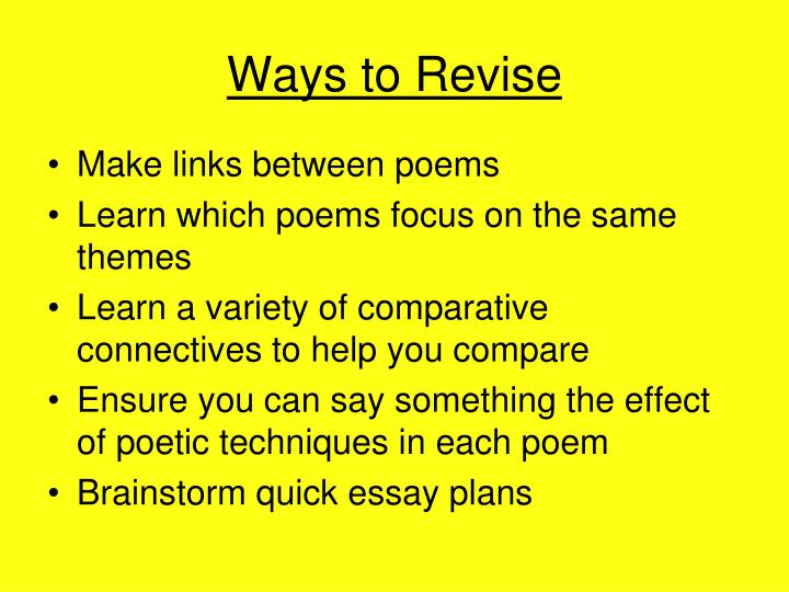 Ways to Revise