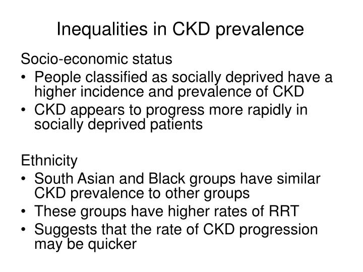 Inequalities in CKD prevalence