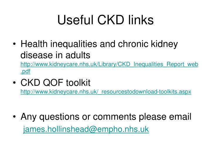 Useful CKD links