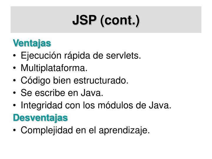 JSP (cont.)