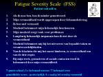 fatigue severity scale fss pati nt vult zelf in