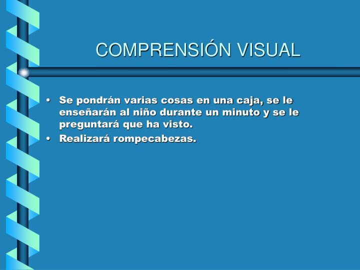 COMPRENSIÓN VISUAL