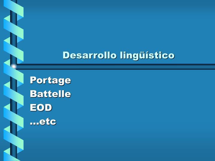 Desarrollo lingüístico