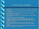 expresi n verbal