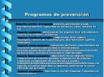 programas de prevenci n