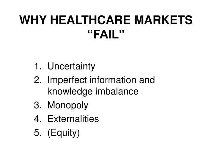 """WHY HEALTHCARE MARKETS """"FAIL"""""""