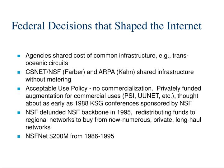Federal Decisions that Shaped the Internet