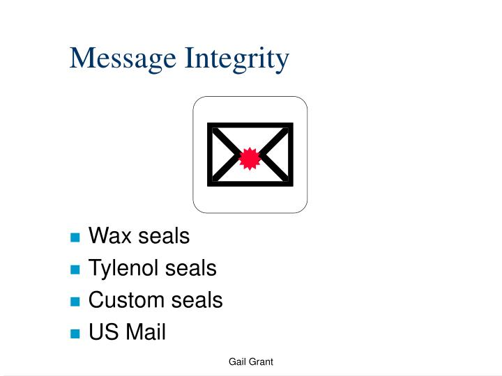 Message Integrity