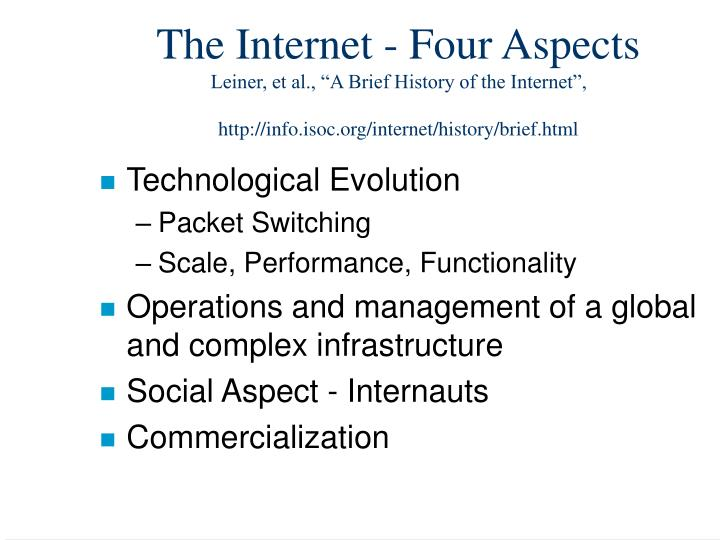 The Internet - Four Aspects