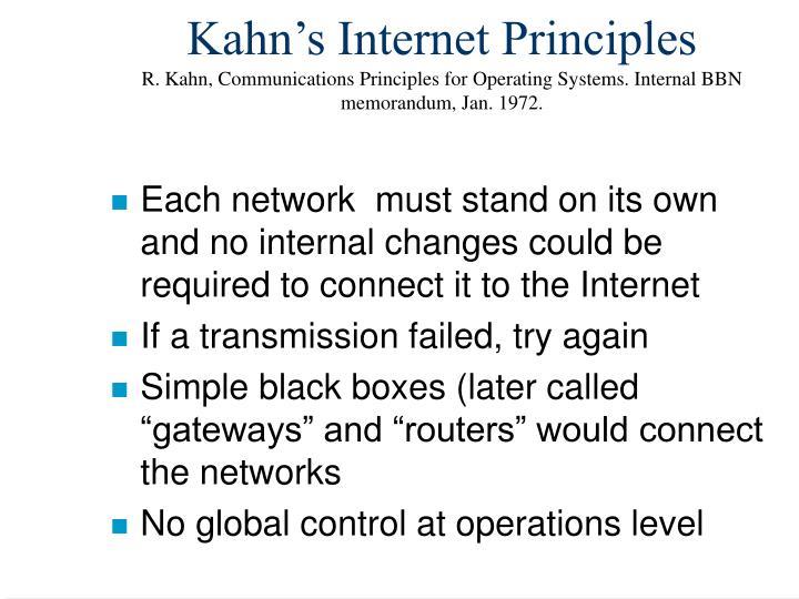Kahn's Internet Principles