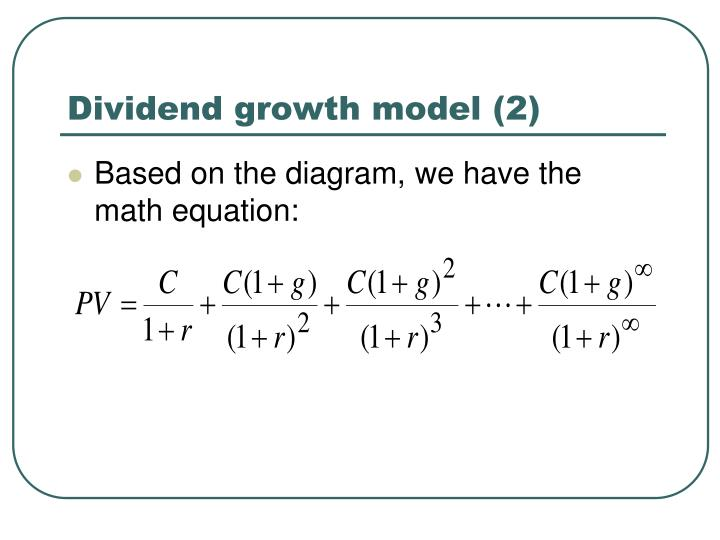 Dividend growth model (2)