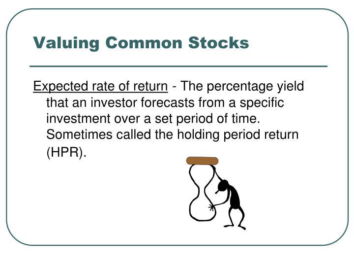 Valuing Common Stocks