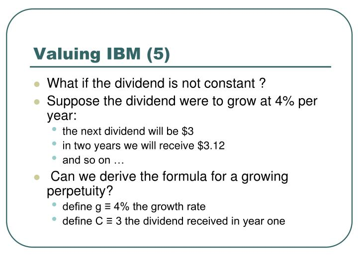 Valuing IBM (5)
