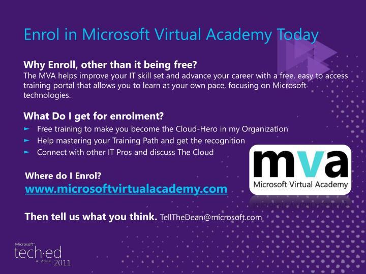Enrol in Microsoft Virtual Academy Today