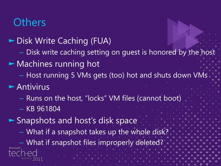 Disk Write Caching (FUA)