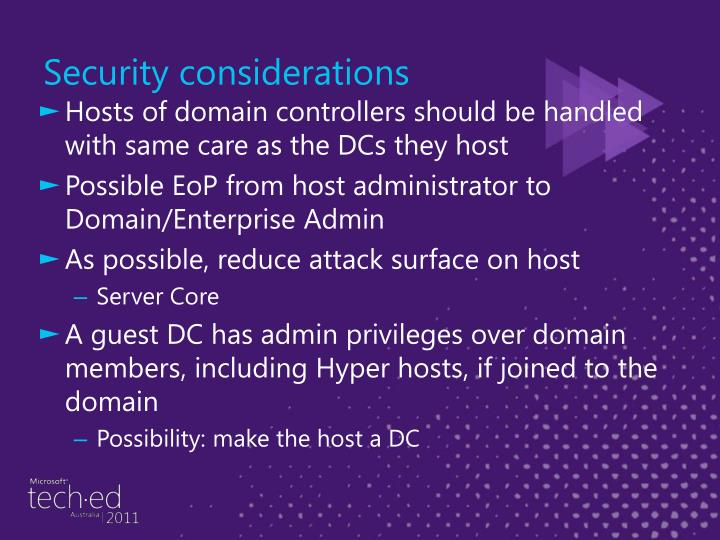 Hosts of domain controllers should be handled with same care as the DCs they