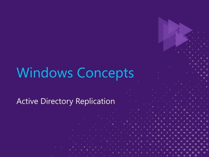 Windows Concepts