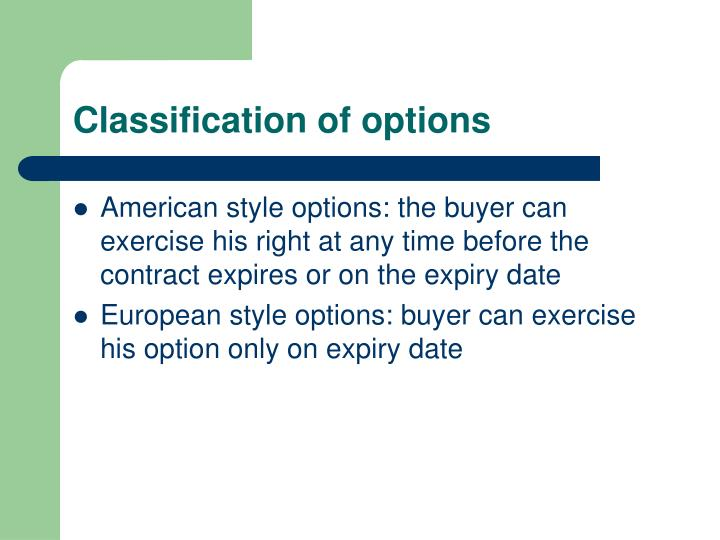 Options on stock indices ppt