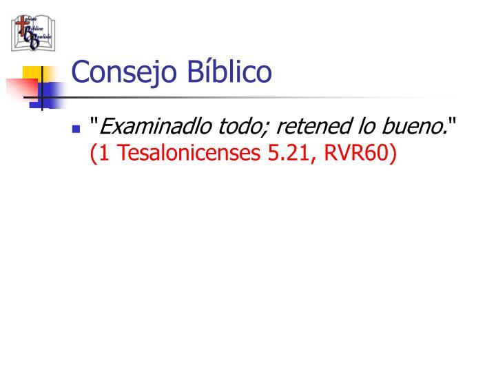 Consejo Bíblico