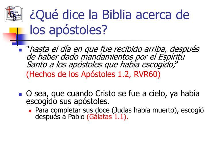 ¿Qué dice la Biblia acerca de los apóstoles?