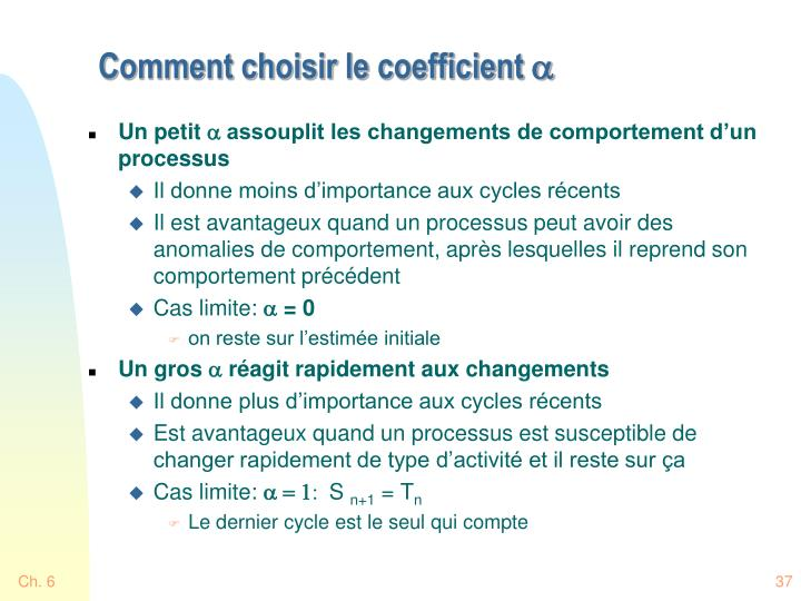 Comment choisir le coefficient
