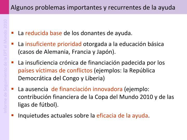 Algunos problemas importantes y recurrentes de la ayuda