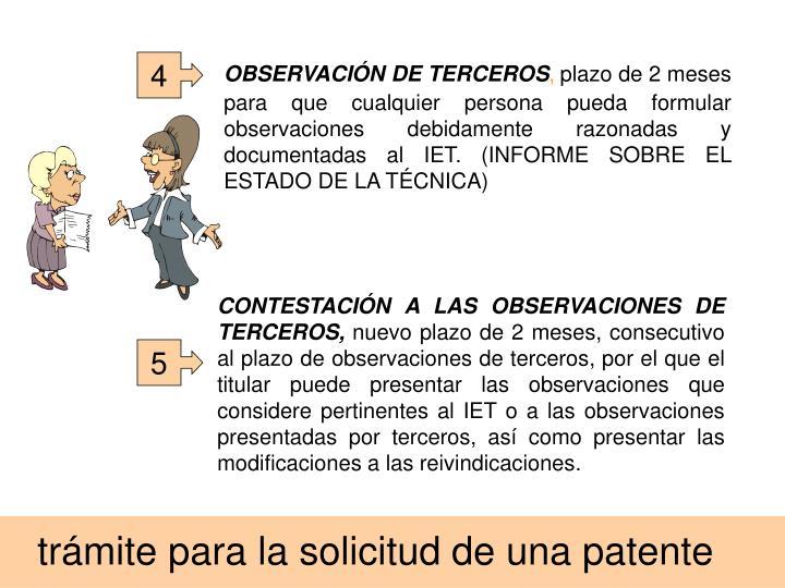 OBSERVACIÓN DE TERCEROS